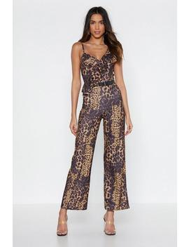 Run With It Leopard Jumpsuit by Nasty Gal