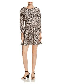 Leopard Print Mini Dress by Rebecca Taylor