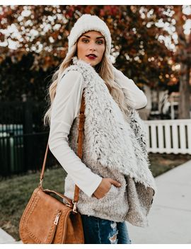 Abominable Snow Babe Pocketed Vest by Vici
