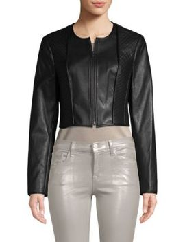 Classic Faux Leather Moto Jacket by Bcbgmaxazria