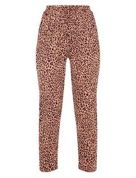 Pink Leopard Print Cigarette Jogger by Prettylittlething