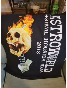 Travis Scott Astroworld Festival Merch Skull In The Box T Shirt Limited Sz Large by Ebay Seller
