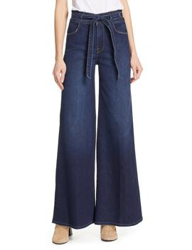 Belted Palazzo Jeans by Frame