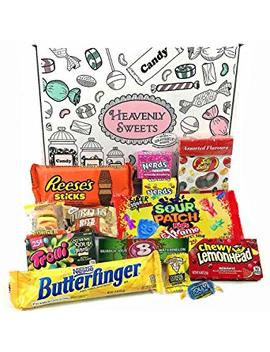 American Candy Box Hamper Of American Sweets And Chocolate | Reeses, Jolly Rancher, Jelly Belly, Nerds | 13 Items In A Retro Sweets Gift Box by Heavenly Sweets