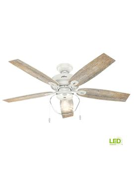 Crown Canyon 52 In. Led Indoor/Outdoor Fresh White Ceiling Fan by Hunter