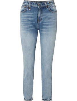 High Rise Straight Leg Jeans by R13