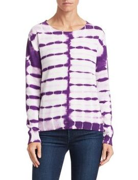 Tie Dye Cotton Cashmere Sweater by Scripted