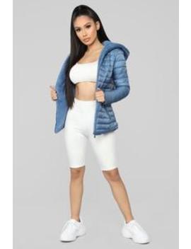 Emilia Puffer Jacket   Blue by Fashion Nova