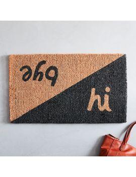 Hi Bye Doormat by West Elm