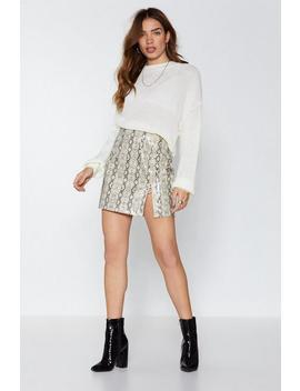 Snake An Entrance Pleated Skirt by Nasty Gal