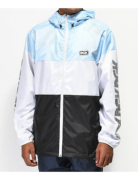 Dgk Triple Light Blue Windbreaker Jacket by Dgk