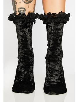 Marissa Velvet Socks by Killstar