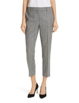 Check Crop Pants by Nordstrom Signature