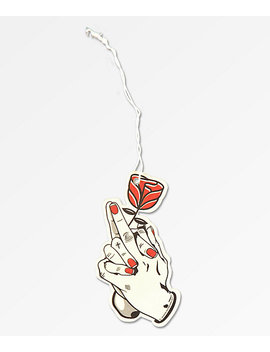 Sausage Praying Finger Rose Air Freshener by Sausage Skateboards