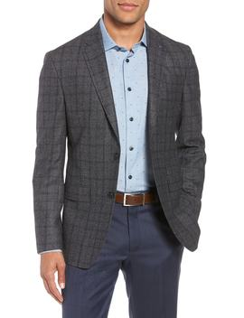 Konan Trim Fit Windowpane Wool Sport Coat by Ted Baker London