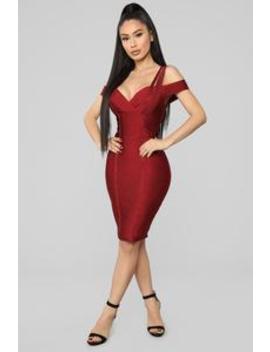 Glitter Reign Bandage Dress   Red by Fashion Nova