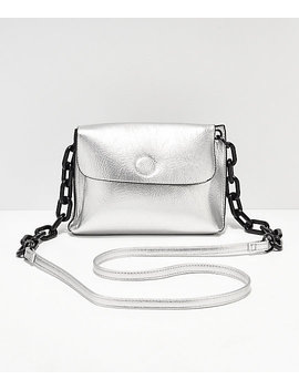 Violet Ray Silver Crossbody Purse by Violet Ray