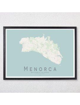 Menorca Map Print | Mallorca Baeleric Islands City Map Print | Spain Wall Art Poster | Wall Decor | A3 A2 16x20 by Etsy