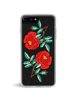 Zero Gravity Apple I Phone 7 Plus / 8 Plus Ojai Phone Case   Embroidered Rose Design   360° Protection, Drop Test Approved by Zero Gravity