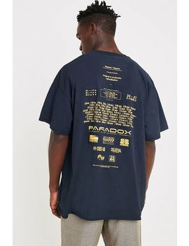 Uo Credits Navy T Shirt by Urban Outfitters