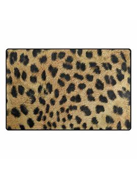 Doormat Front Door Mats Outdoor Inside Mats Personalized Welcome Mats With Shading Leopard Print For Chair Mat And Decorative Floor Mat For Office And Home (15.7x23.6 Inch) by Cfwl