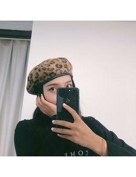 Raconteur   Leopard Print Felt Beret Hat by Raconteur
