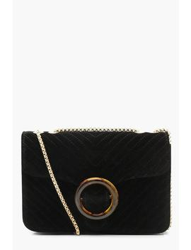 Suedette Quilt Resin Cross Body by Boohoo