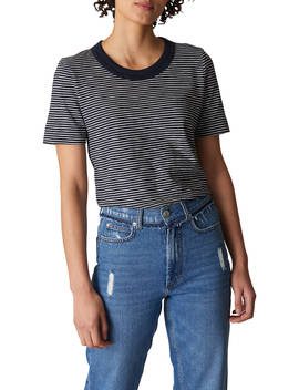 Whistles Rosa Stripe T Shirt, Navy/Multi by Whistles
