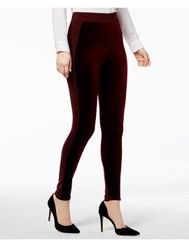 I.N.C. Mixed Media Velvet Leggings, Created For Macy's by Inc International Concepts