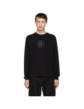 Ssense Exclusive Black Graphic Long Sleeve T Shirt by Cottweiler
