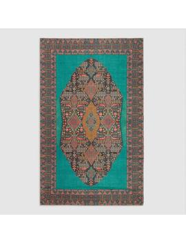 5'x8' Teal Medallion Indoor Outdoor Rug by World Market