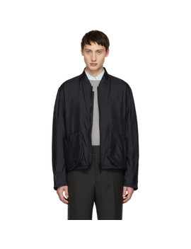 Navy Richmond Bomber Jacket by Jil Sander