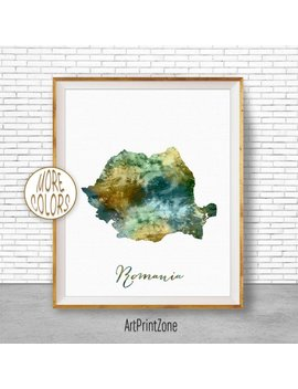 Romania Map Art Romania Print Watercolor Map Map Painting Map Artwork  Office Decorations Country Map Art Print Zone by Etsy