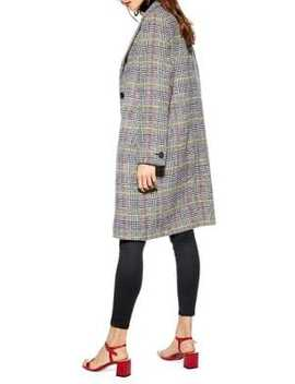 Piper Check Coat by Topshop