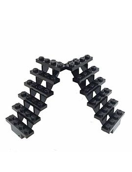Lego Stairs, 7x4x6, Black, Set Of 2 by Lego