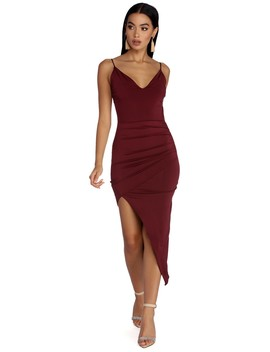 Wrapped In Drama Asymmetrical Dress by Windsor