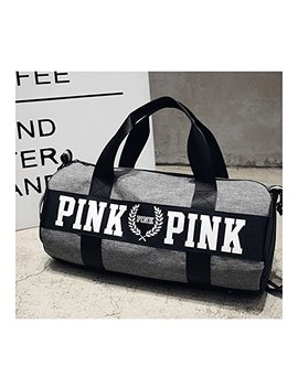 Beauty Smooth Design Lightweight Water Resistant Folding Nylon Shoulder Bags Or Holdall Pink Gym Sports Bag by Pink Bag