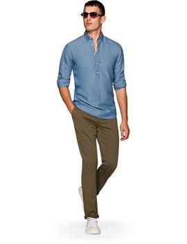 Light Blue Denim Shirt by Suitsupply