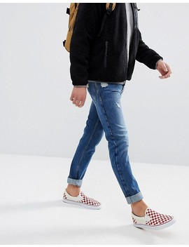 Just Junkies Tapered Jeans In 90s Wash With Abrasions by Just Junkies
