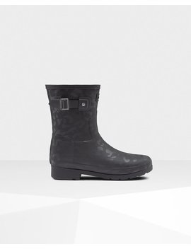 """<Span Itemprop=""""Name"""">Women's Refined Slim Fit Insulated Short Rain Boots</Span>:                     <Span>Black</Span> by Hunter"""