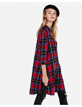 Plaid Flannel Duster by Express