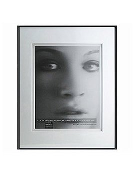 Framatic Fineline Aluminum Frames 11 In. X 14 In. With 8 In. X 10 In. Opening   Black by Framatic