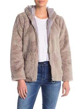 O Ring Faux Fur Jacket by Vigoss