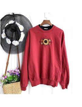 Vintage 90's Sweater Sweatshirt Pullover Jumper Sweater Vintage 90s Sunflower Sweatshirt by Etsy