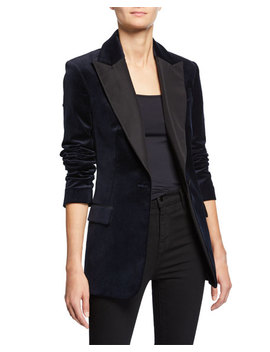 Steele One Button Velvet Jacket by A.L.C.