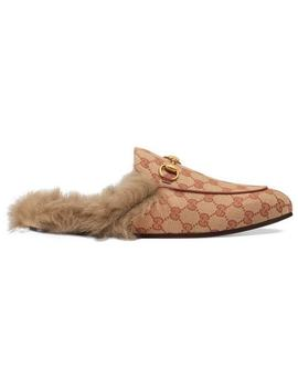 Princetown Gg Canvas Slipper by Gucci