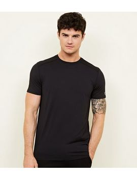 Black Sports Stretch T Shirt by New Look