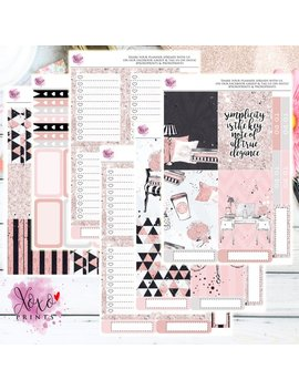 Pretty In Pink Weekly Kit For The Big Happy Planner by Etsy