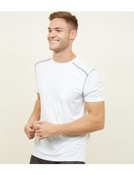 White Sports Stretch T Shirt by New Look