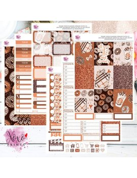 Coffee And Donuts Weekly Kit For The Vertical Erin Condren Planner by Etsy